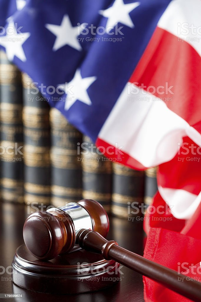 American Judicial System stock photo
