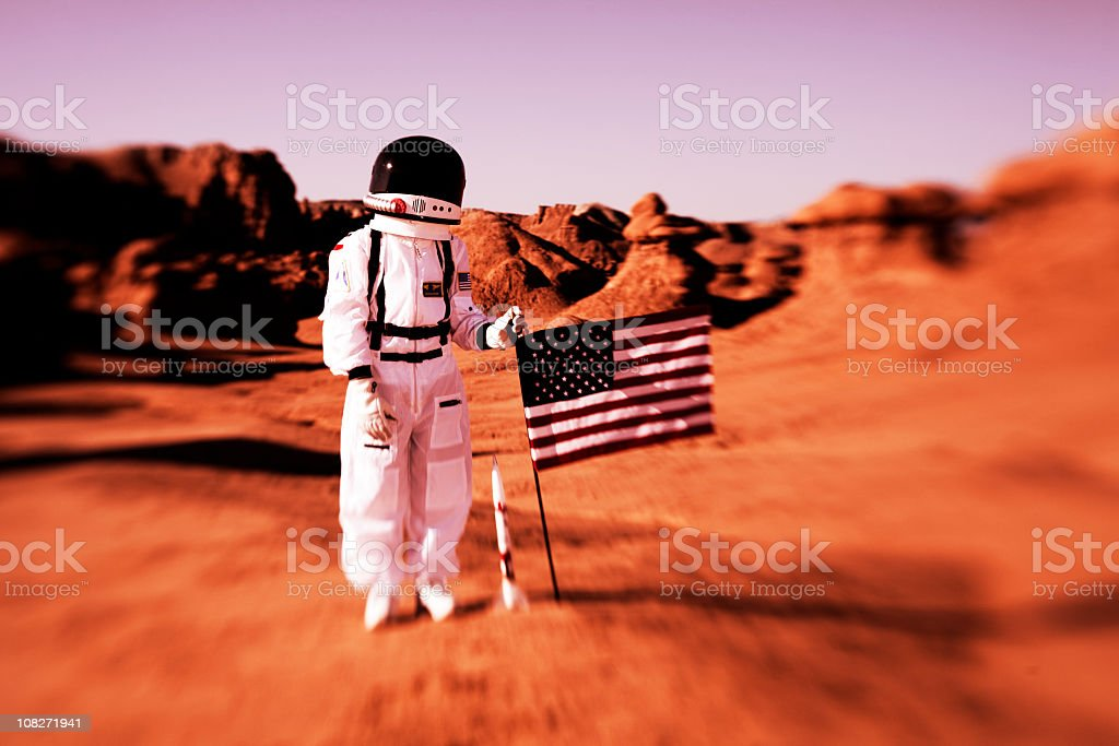American Kid Astronaut stock photo
