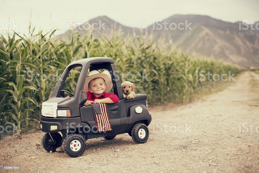 American Kid stock photo