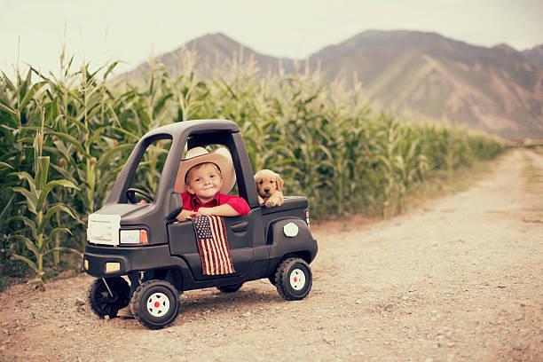 American Kid stock photo