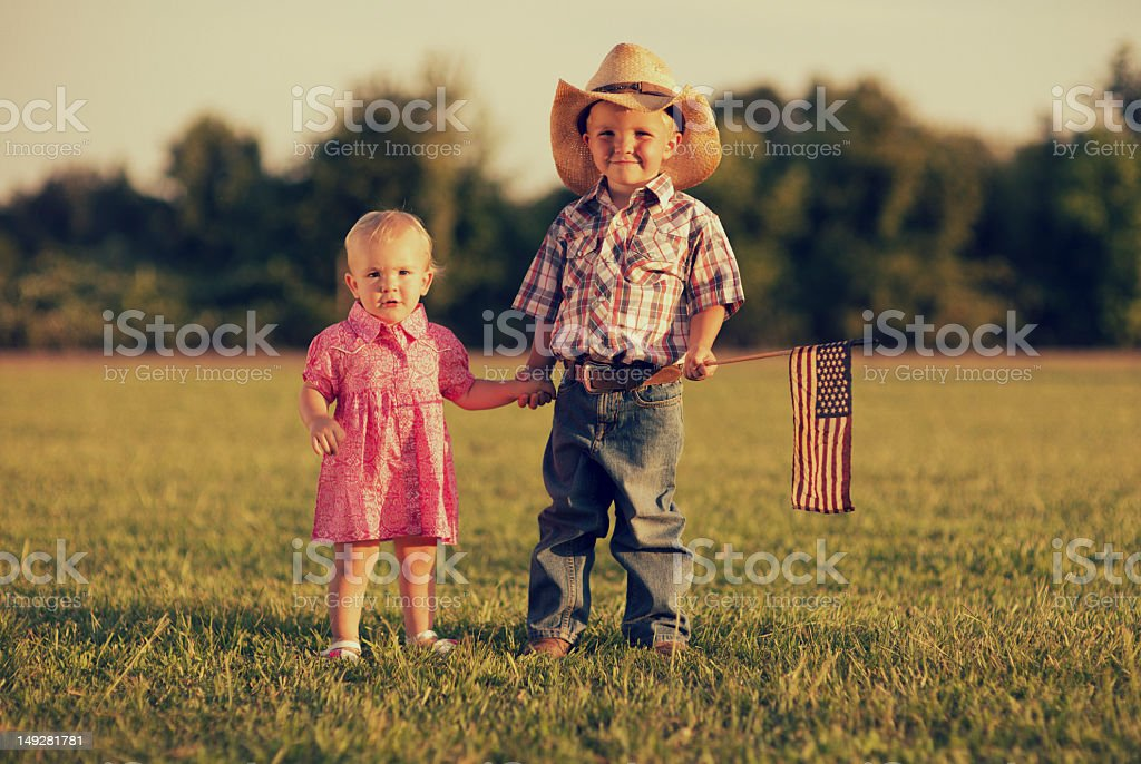 American Kids stock photo