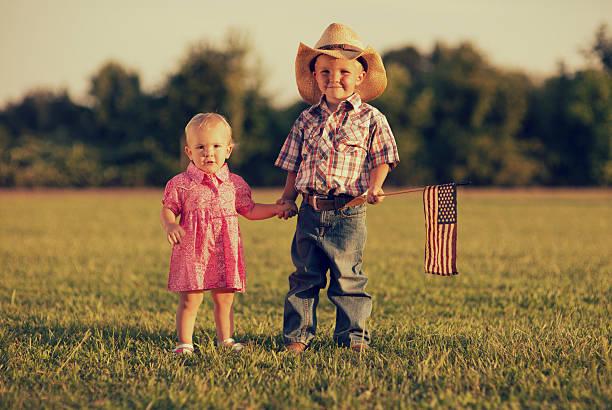 American Kids stock photo