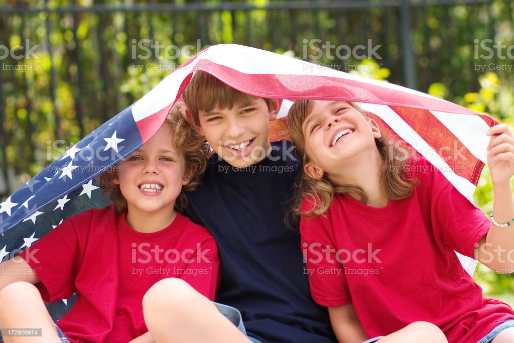 American Kids royalty-free stock photo
