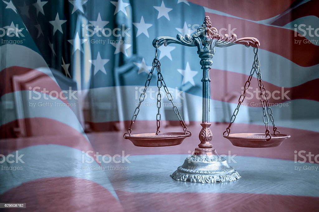 American law and order stock photo