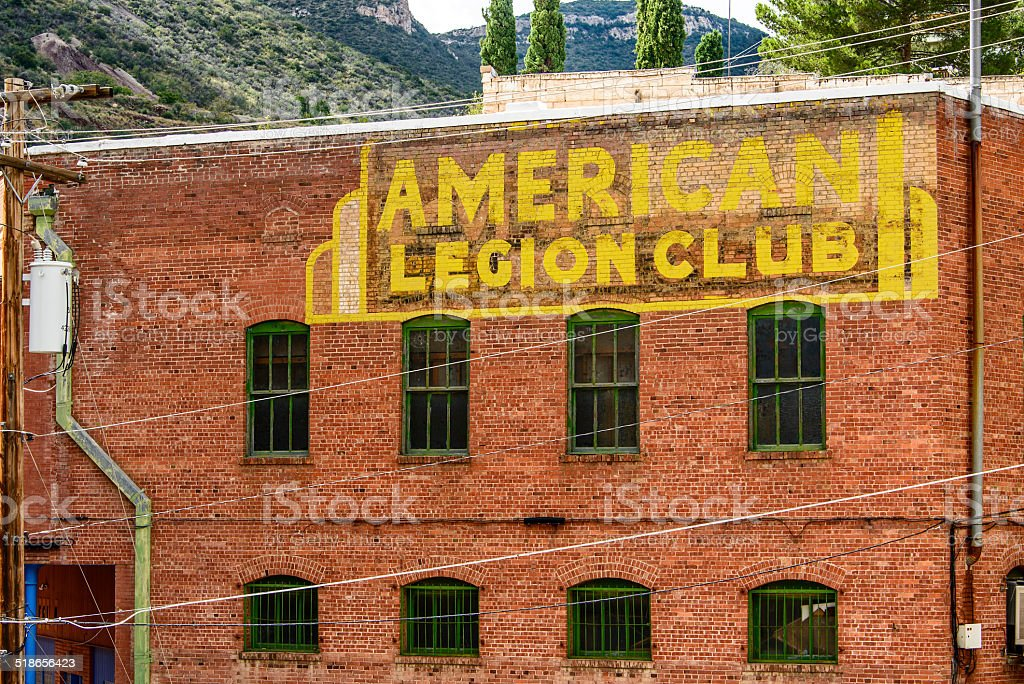 American Legion Post 16, Bisbee, Arizona, US stock photo