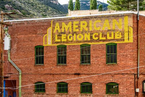 American Legion Post 16 Bisbee Arizona Us Stock Photo - Download Image Now