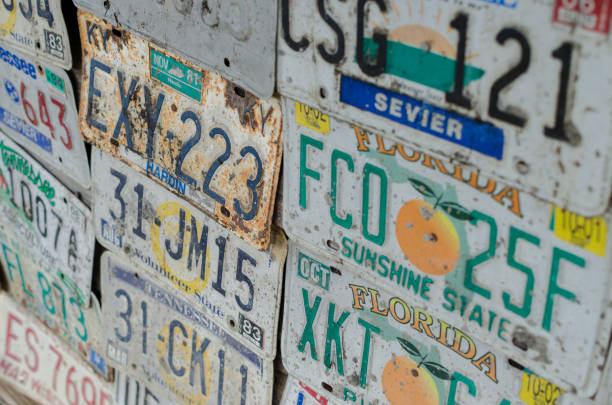 American License Plates stock photo