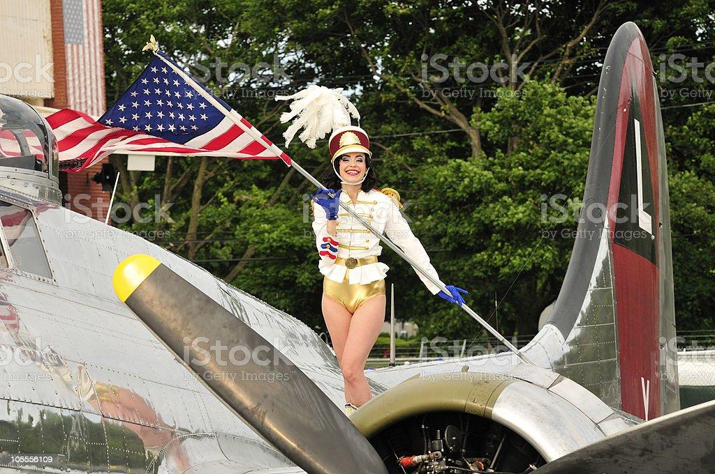 Majorette americano - foto de stock