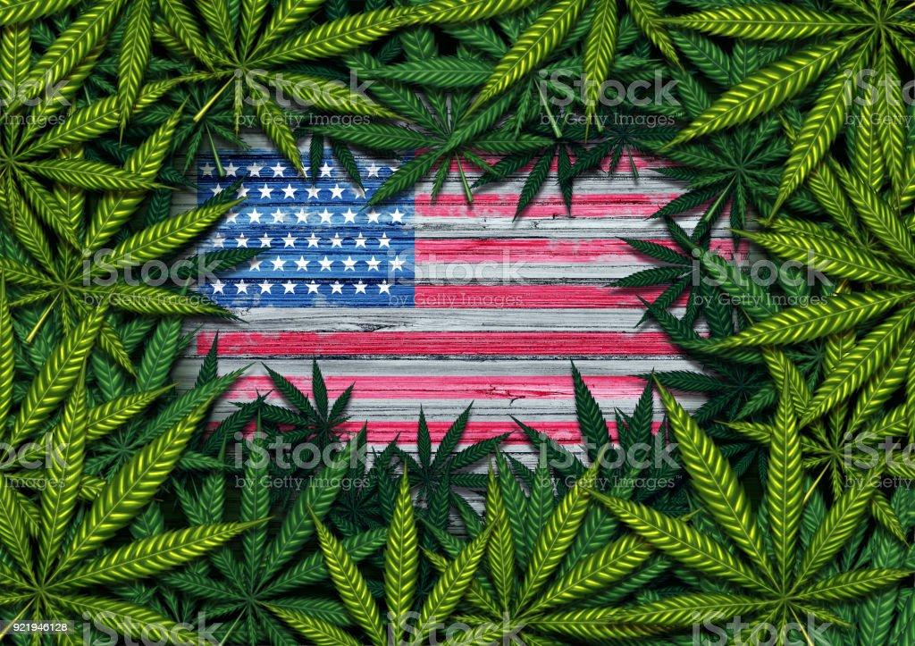 American Marijuana stock photo