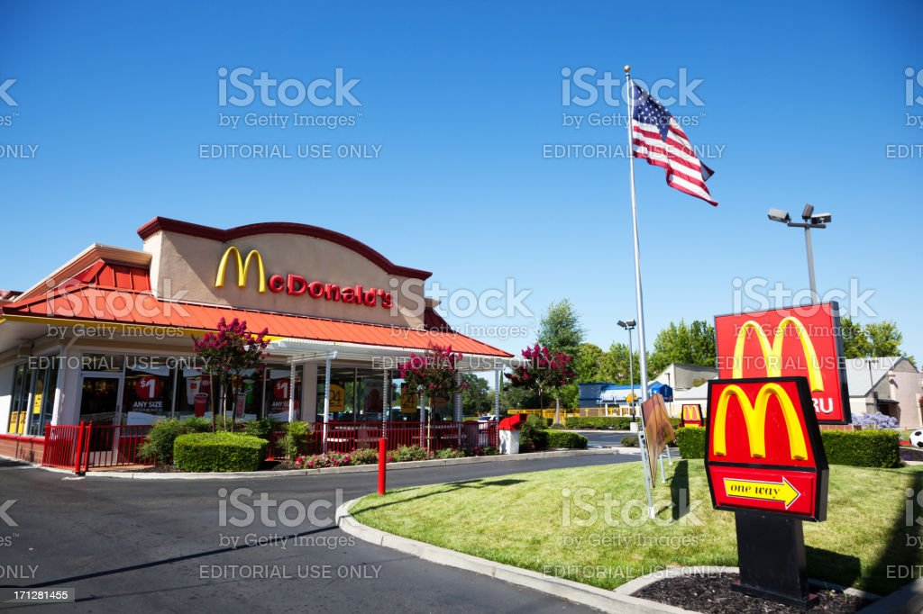 American McDonalds royalty-free stock photo