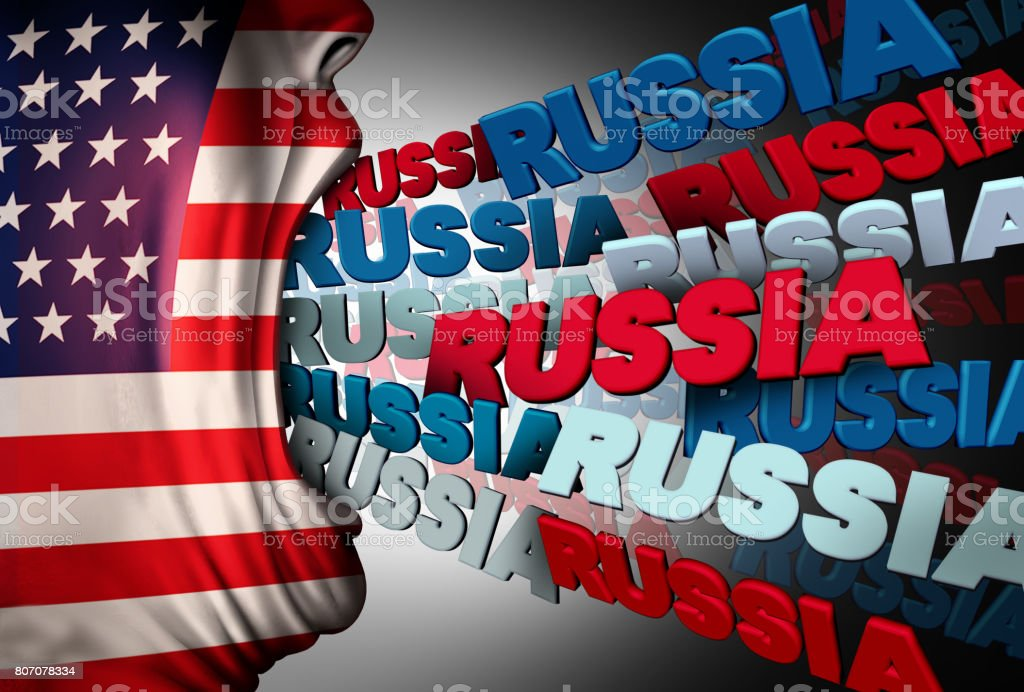 American Media Russia Obsession stock photo