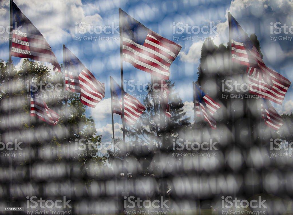 American Memorial stock photo