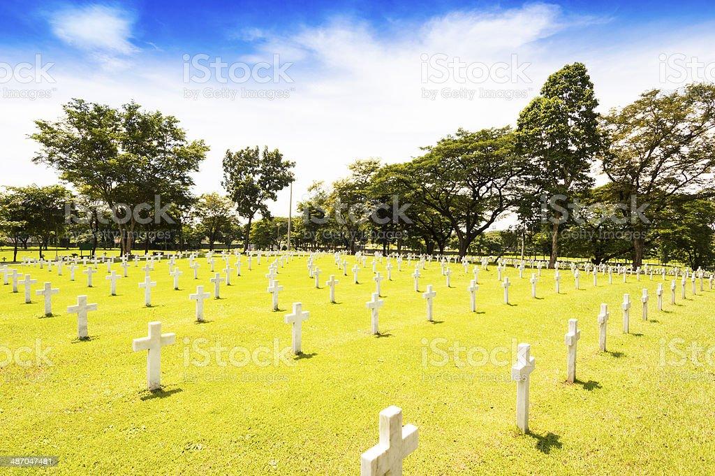 American memorial war cemetery royalty-free stock photo