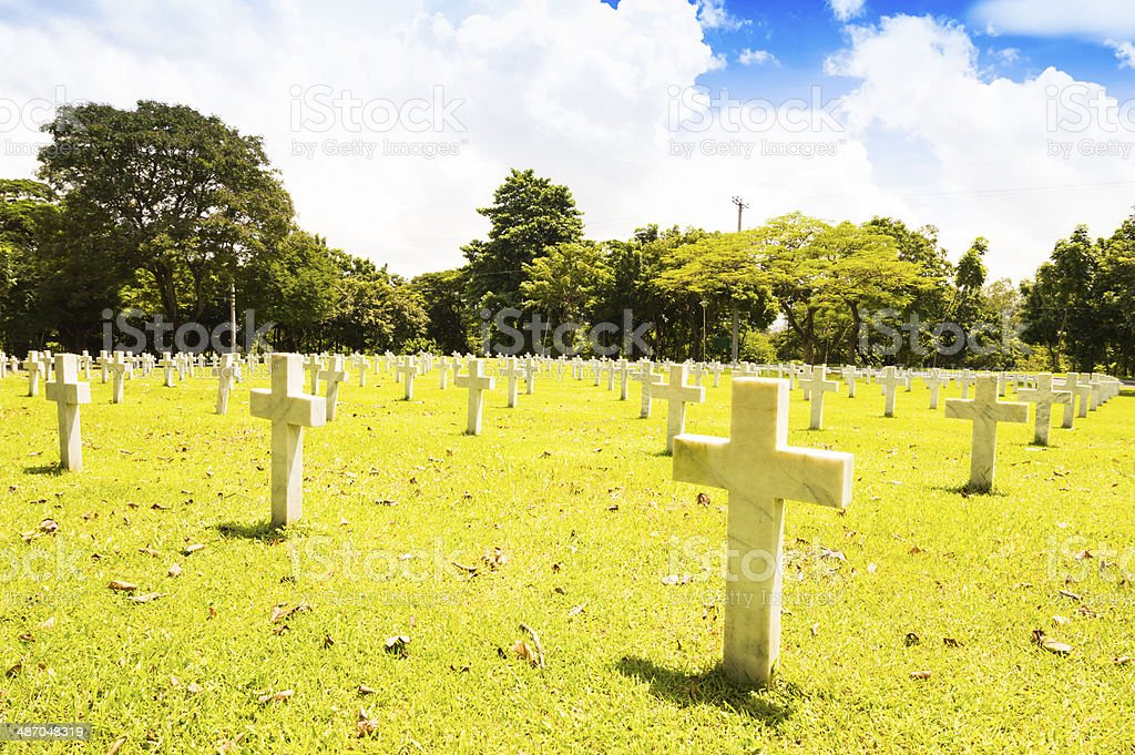 American memorial war cemetery royalty-free stock photo