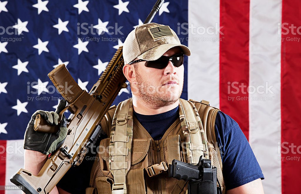 American Military Contractor stock photo