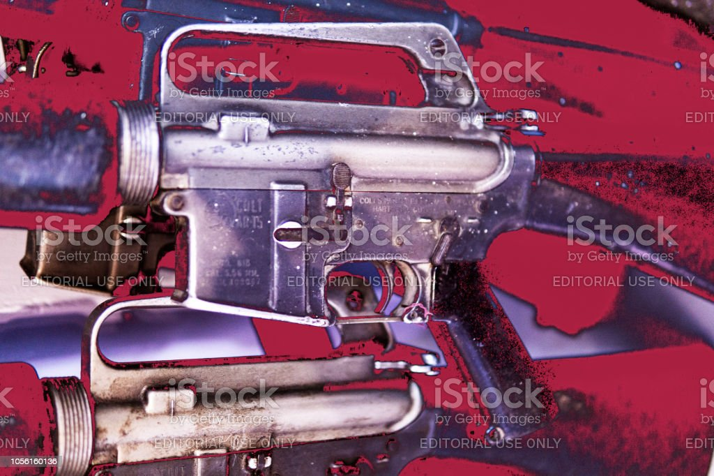 American Military Guns From Vietnam War Used In Laos Stock Photo