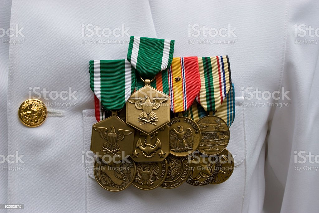 American Military Medals royalty-free stock photo