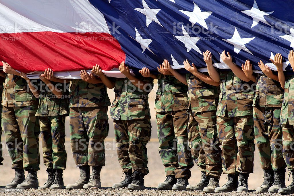 American Military royalty-free stock photo