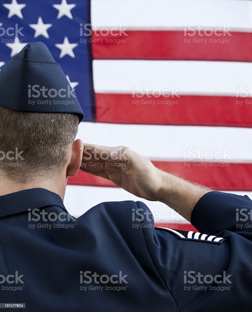 American MIlitary Service Salute royalty-free stock photo