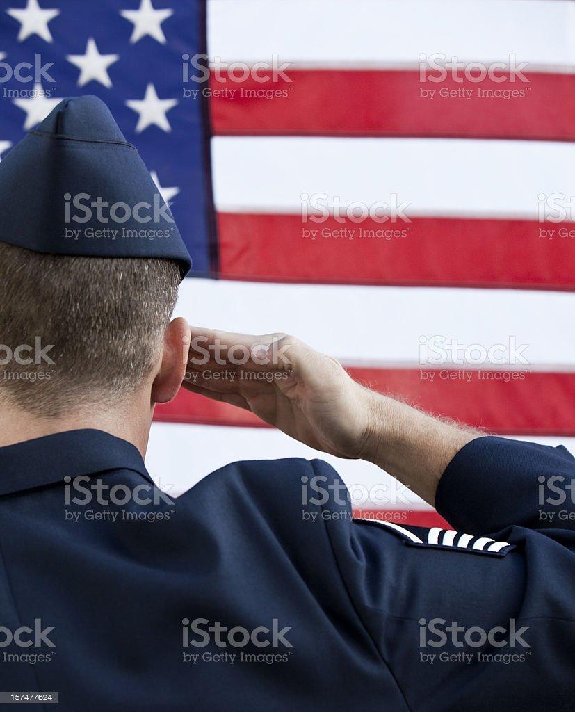 American MIlitary Service Salute stock photo