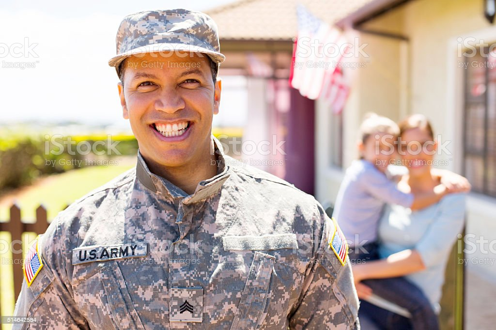 american military soldier standing stock photo