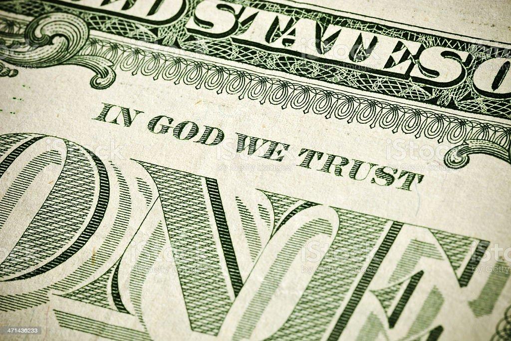 American Money Close Up stock photo