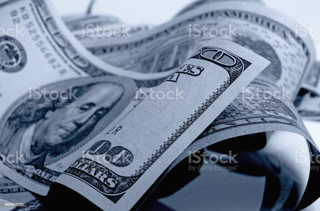 American money in black and white. stock photo