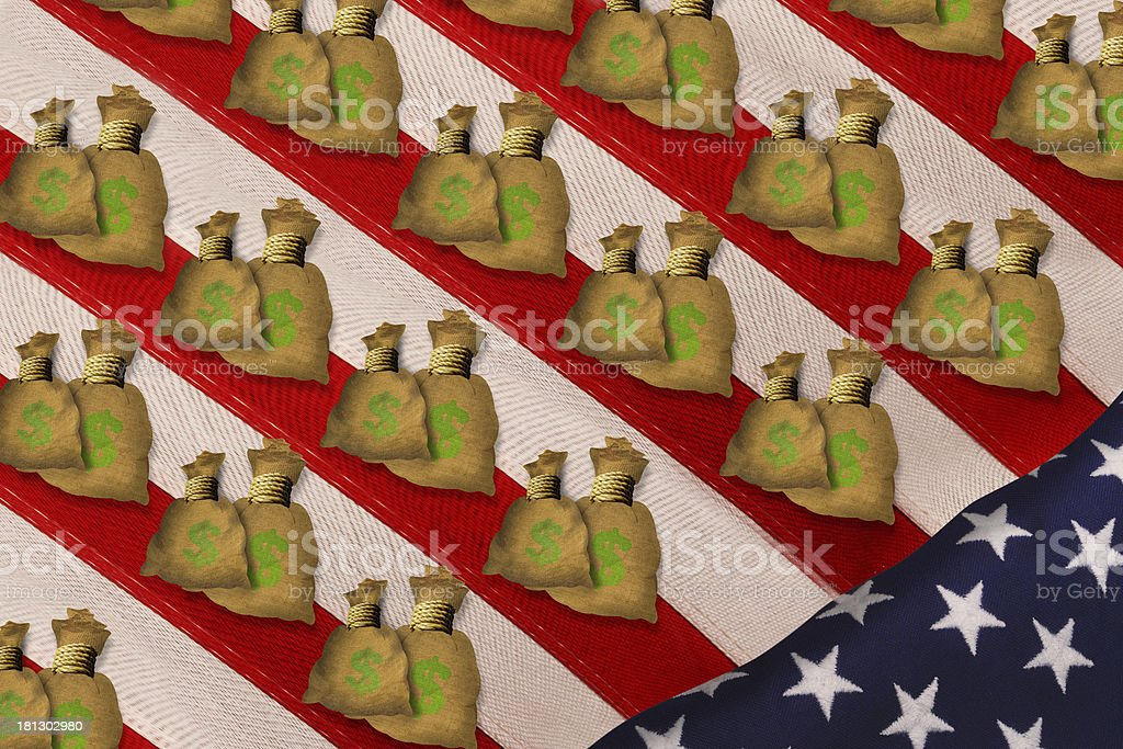 American Money. stock photo