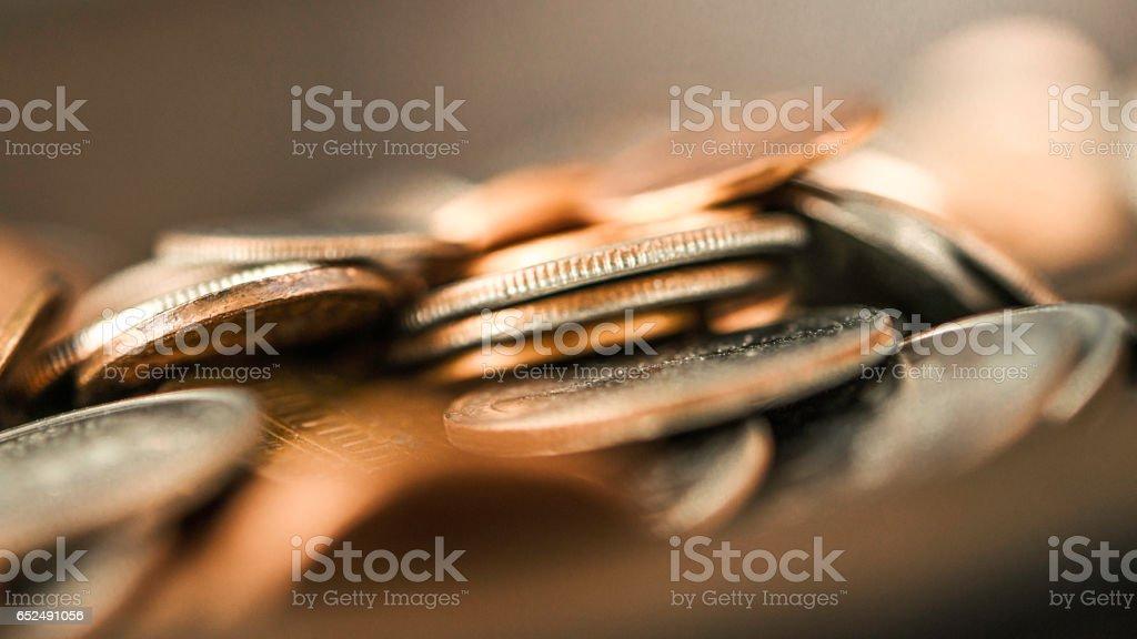 American money pile horizontal stock photo
