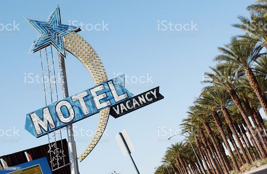 American Motel royalty-free stock photo