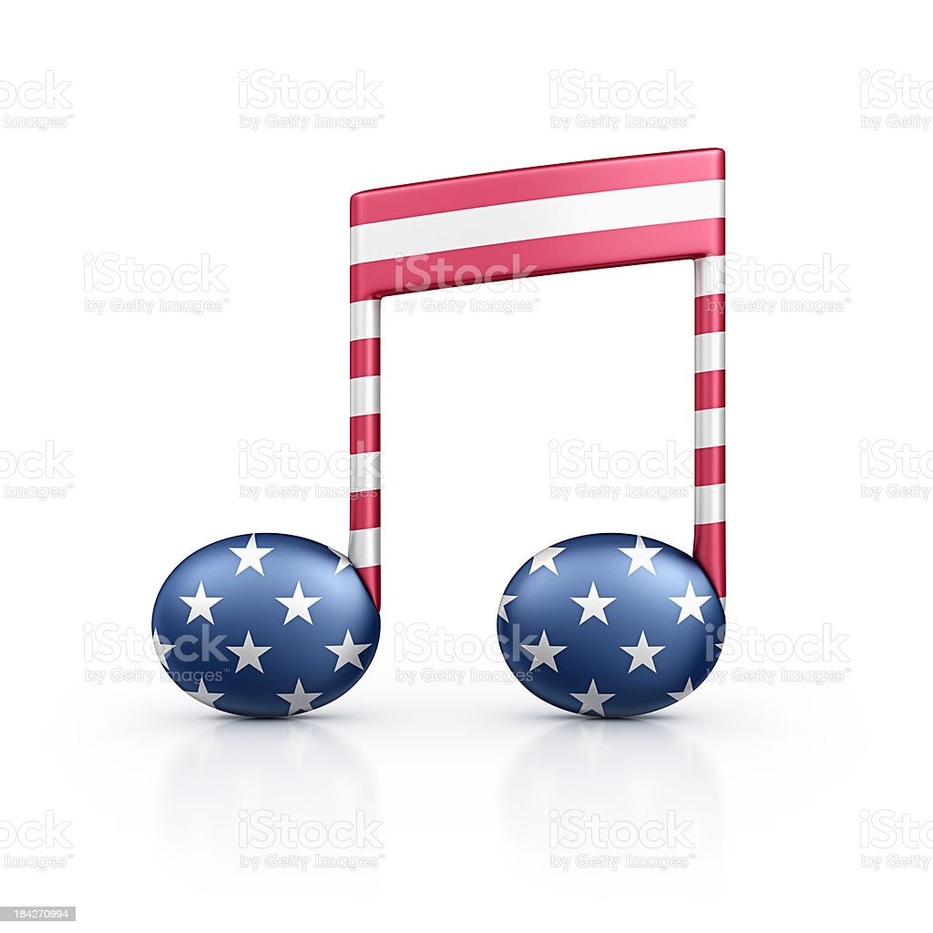 american musical note stock photo