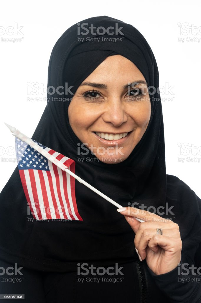 American Muslim Mature Woman stock photo