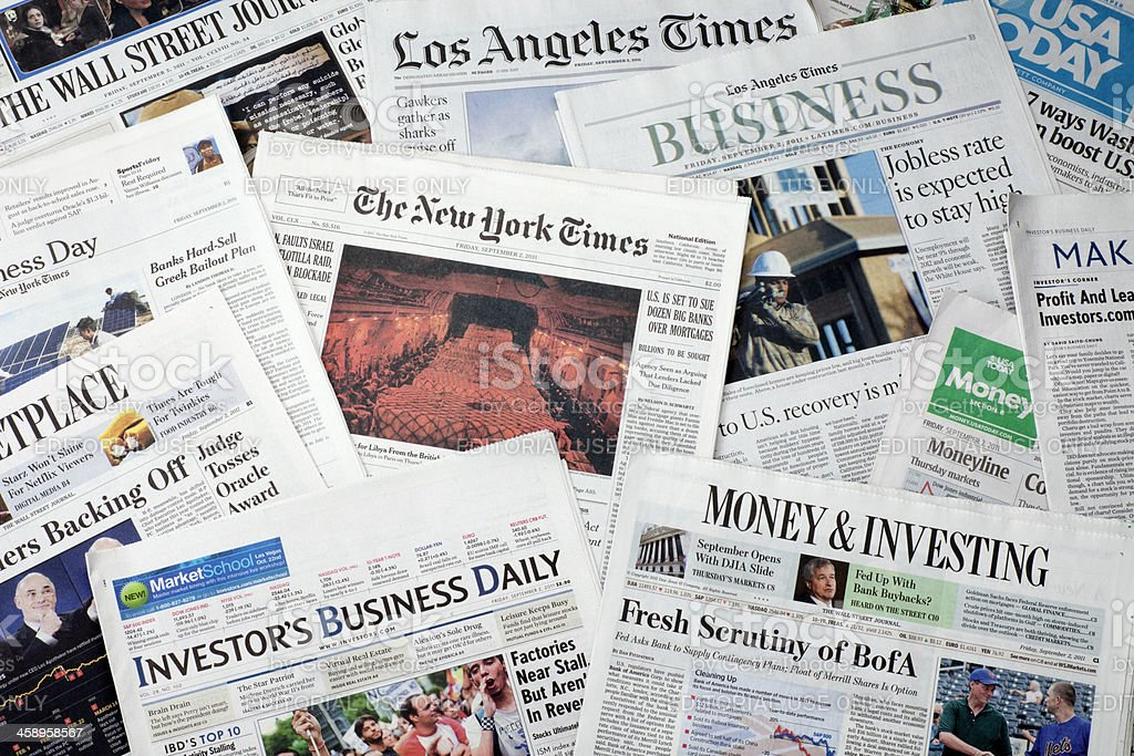 American Newspapers stock photo