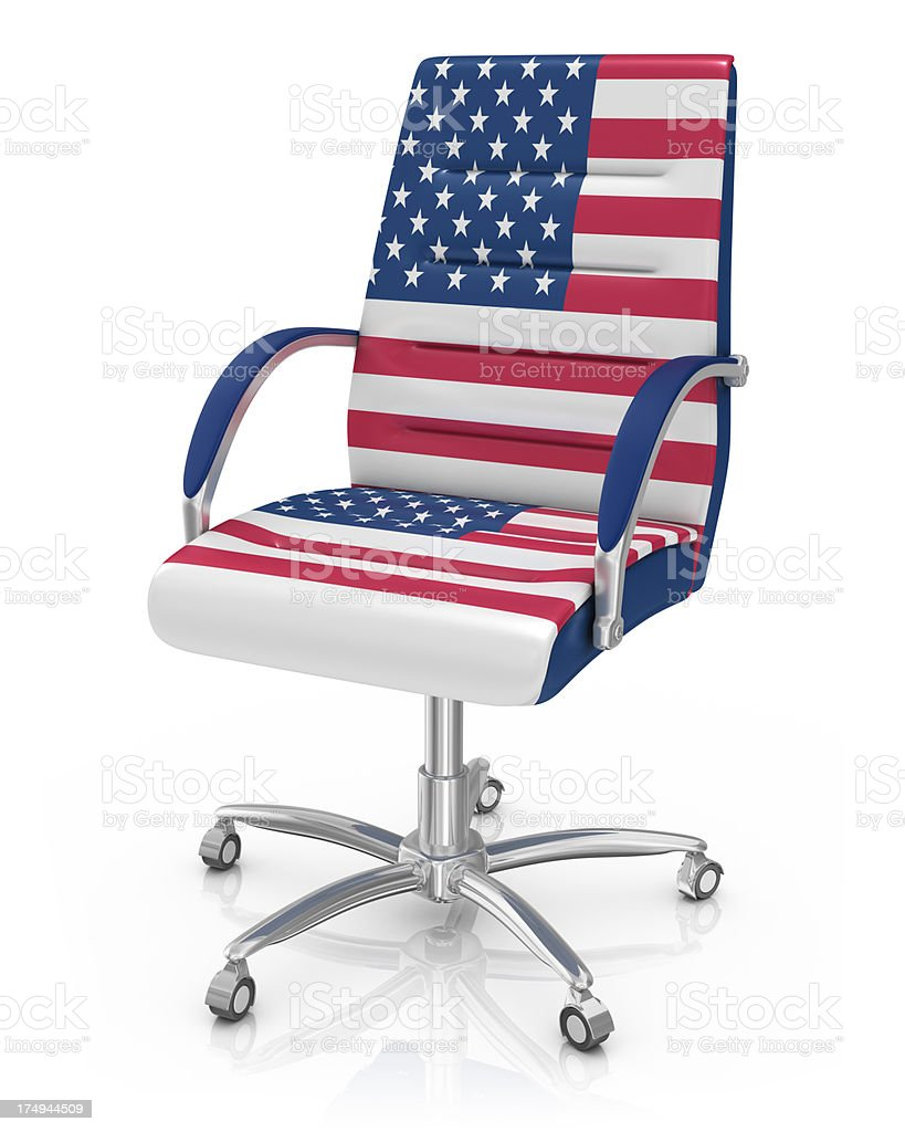 American Office Chair Royalty Free Stock Photo