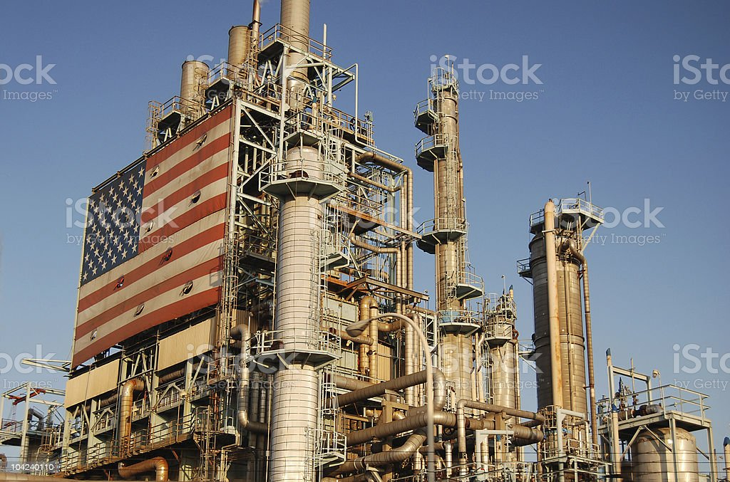 American Oil Refinery royalty-free stock photo