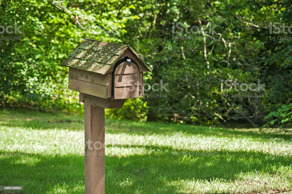 American outdoor mailbox royalty-free stock photo