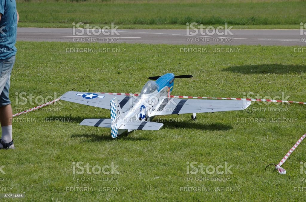 American P-51 Mustang stock photo