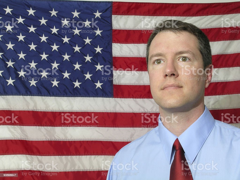 American Patriot stock photo