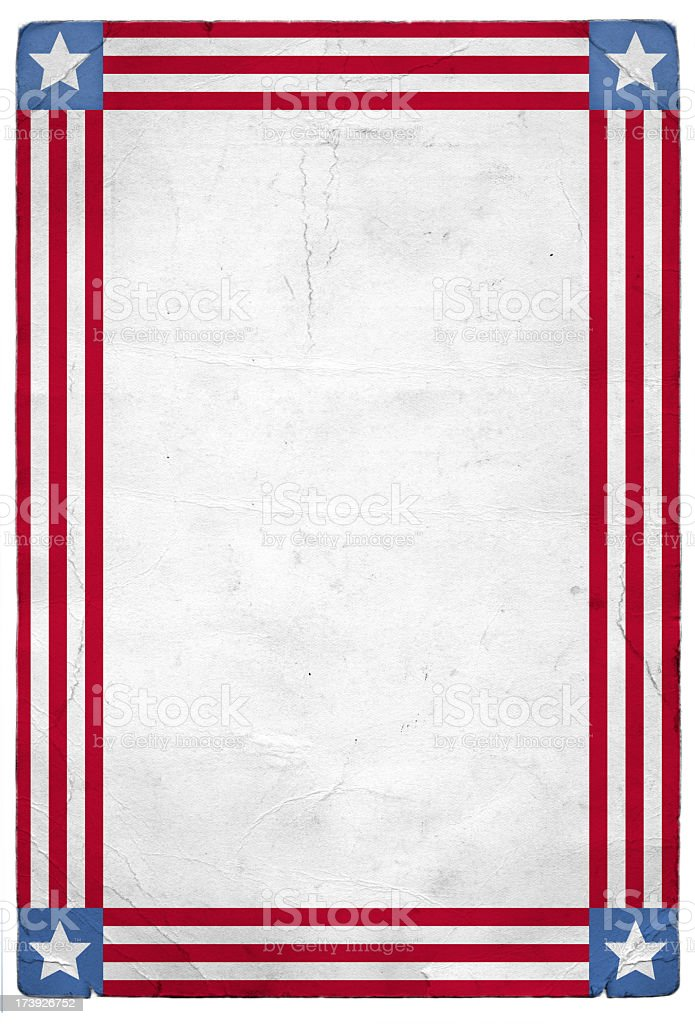 American Patriotic Background royalty-free stock photo
