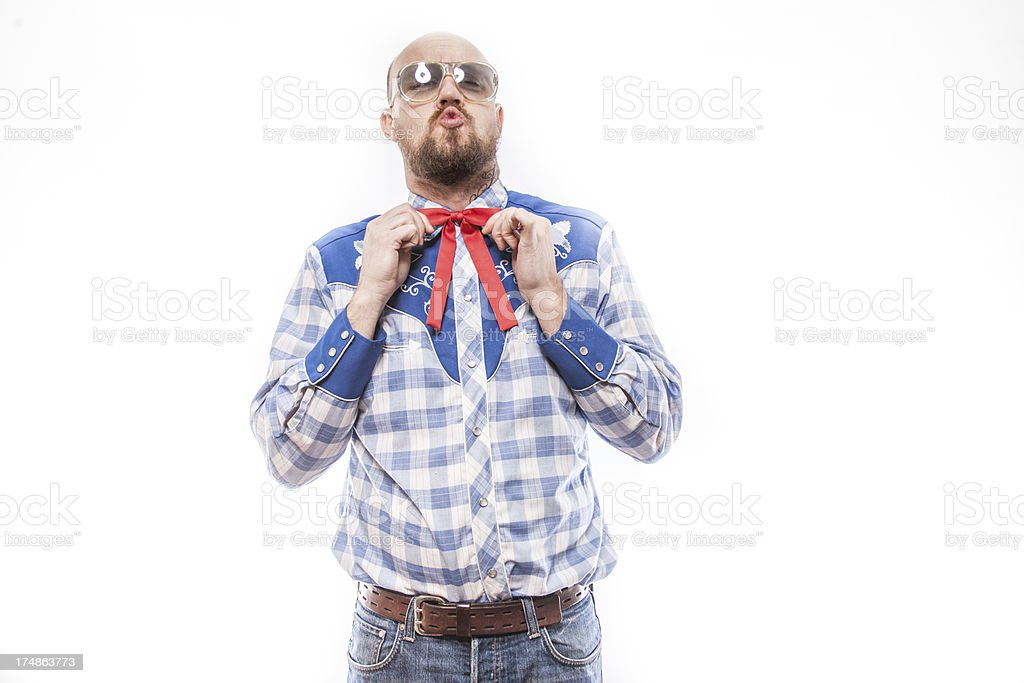 American Patriotic Man in Red White and Blue royalty-free stock photo