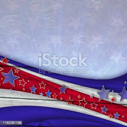 American patriotic Wood Background