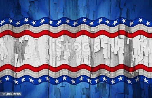 953130996 istock photo American patriotic Wood Background 1248695255