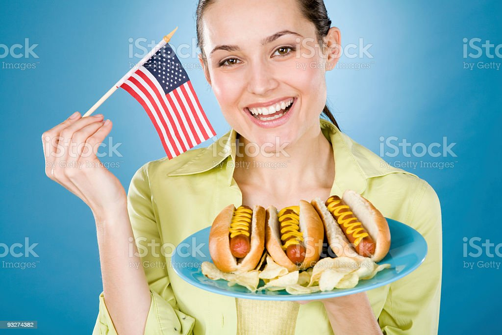 American Picnic royalty-free stock photo