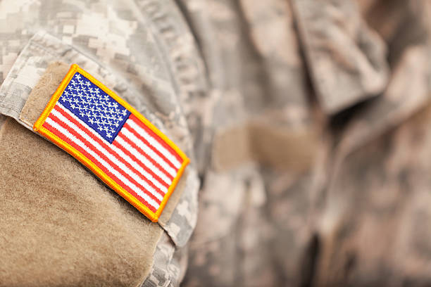 American Flag patch on American soldiers uniform us military stock pictures, royalty-free photos & images