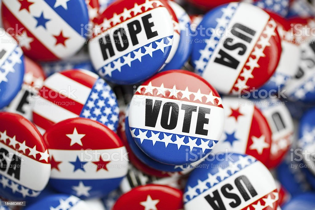 american pin for usa election stock photo
