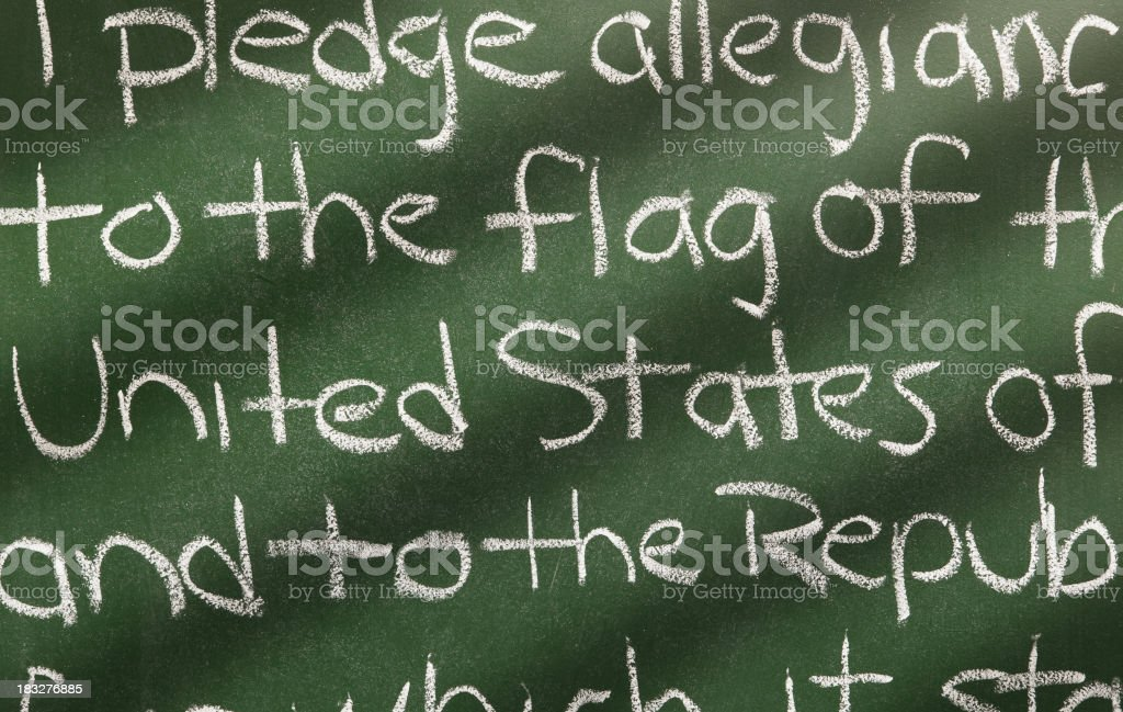 American Pledge of Allegiance stock photo