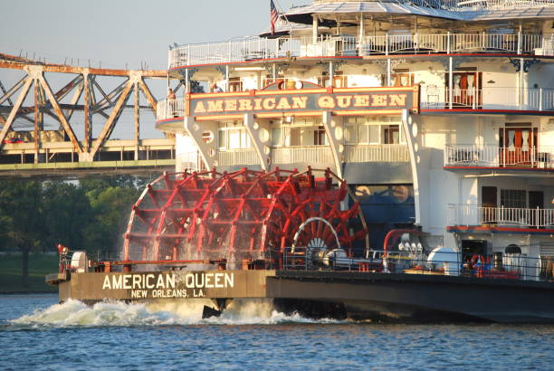 American Queen steamboat stock photo