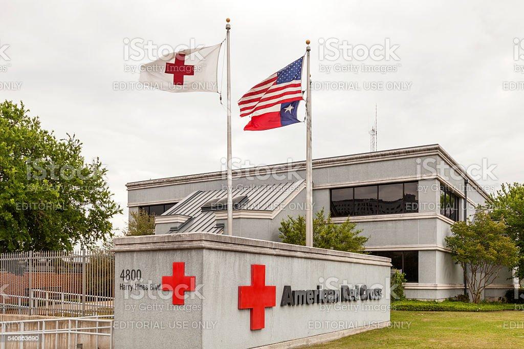 American Red Cross in Dallas stock photo