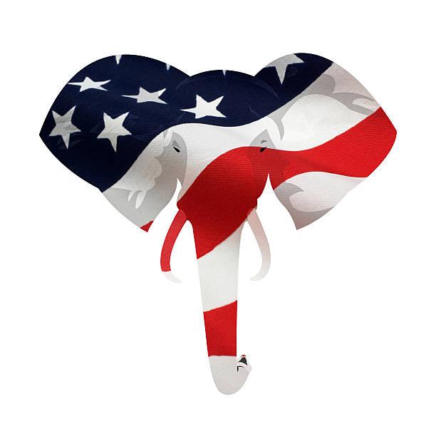 американский республиканская слон символ - республиканская партия сша стоковые фото и изображения