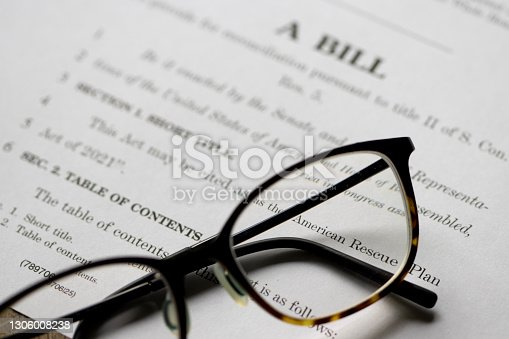 istock American Rescue Plan Act of 2021 1306008238